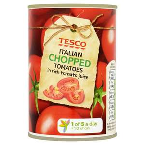 Tesco Italian Chopped Tomatoes 400G Only 26p!