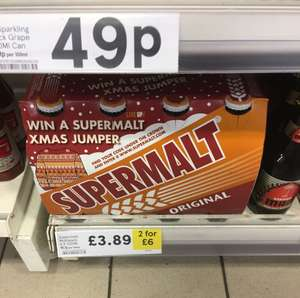 Supermalt 8 pack 2 for £6 @ Tesco instore