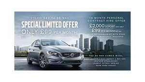 Volvo s60 T4 SE Nav Lease - £2000 deposit, £99pm, 18mnth pch - Total cost £3,782