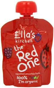 Amazon Ella's Kitchen The Red One Organic Squished Smoothie Fruits 90 g (Pack of 5) £2.61 delivered on S&S ( OR Add-On Item)