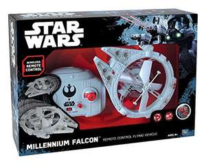 Remote control flying Star Wars Millennium Falcon toy £23.99 delivered at Amazon