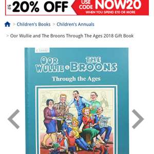 The Broons and Oor Willie now £5 from £12 free c & c @ The Works and 17% Quidco
