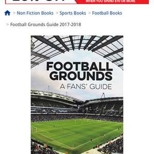 Football grounds season 2017/2018 was £12.99 now £3 with free c&c @ The Works and 17% Quidco