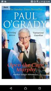 Paul o'grady open the Cage Murphy only 99p on amazon for kindle