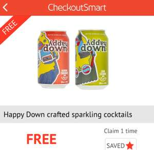 Free Happy Down Can Of Cocktail - Tesco - Via Smart Checkout App