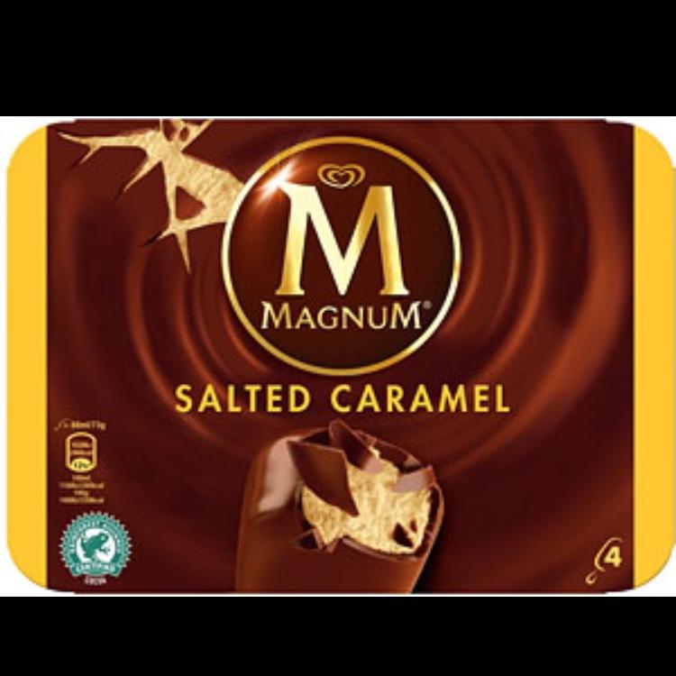 Magnum salted caramel 4 pack 80p Sainsbury's