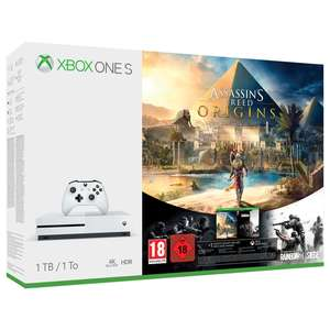 Rainbow Six Siege One S 1TB Assassins Creed Origins + Gears of War Ultimate Edition + Halo 5: Guardians + Forza Motorsport 7 + Rainbow Six Siege Shopto for £239.70