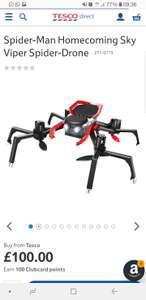 Spiderman Homecoming Drone was £100 now £25 Tesco in-store