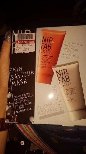 Nip and Fab Skin Saviour Mask Set. Boots Telford £2.50