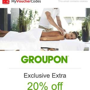 20% off groupon local deals when clicking through vouchercodes