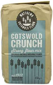 Matthews Cotswold Crunch Flour 1.5 kg (Pack of 5) £5.69 (Prime) £10.44 (Non Prime)  or £4.84 Amazon Subscribe and save