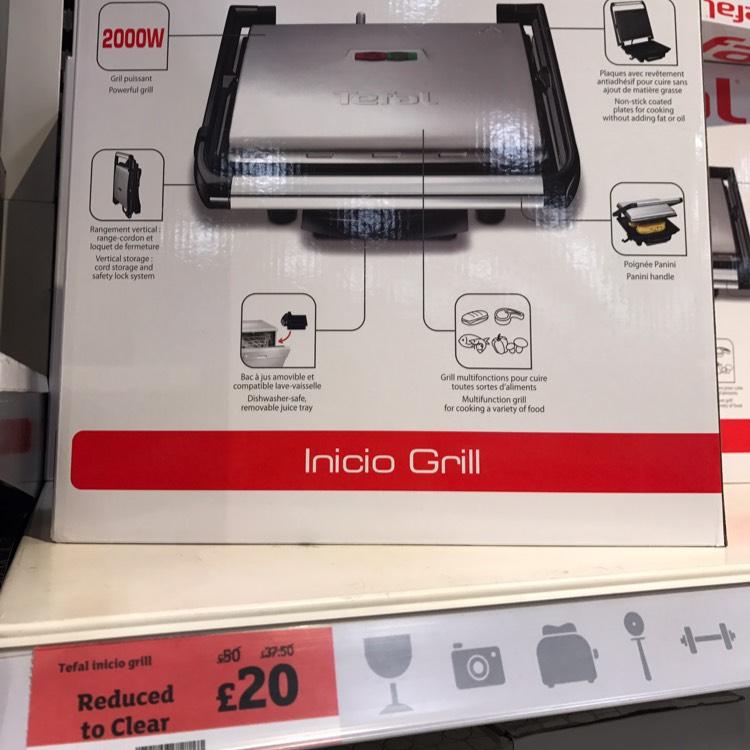 Tefal Inicio Grill - £20 instore @ Sainsbury's