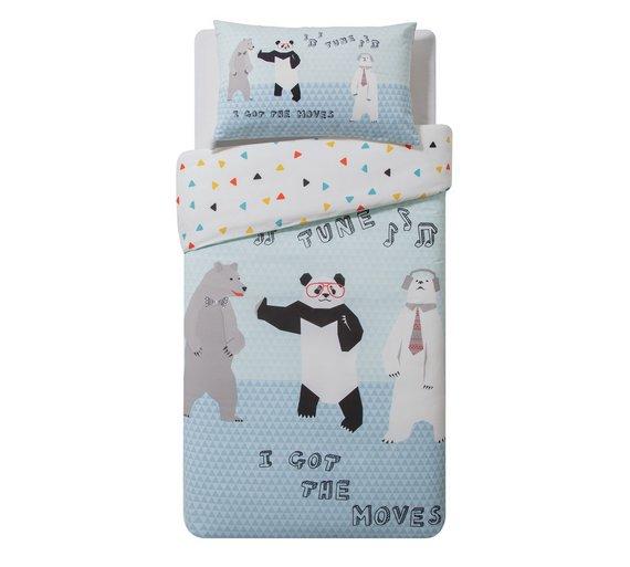 Collection tune cotton rich panda single reversible duvet cover + pillowcase NOW £4.49 @ argos free c+c