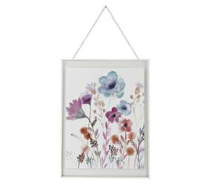 Collection Forest Frost Floral Glass Print - £5.99 @ Argos