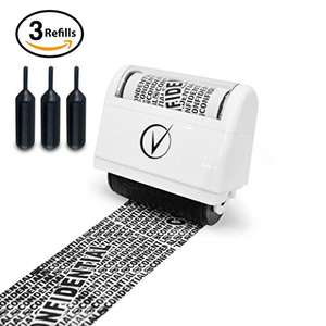 Vantamo Identity Theft Protection Roller Stamp Wide Kit, Including 3-Pack Refills + Free E-Book £9.99 (Prime) £13.98 (Non Prime) @ Sold by Vantamo UK and Fulfilled by Amazon