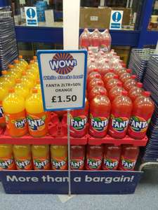 3Ltr bottles of fanta £1.50 @ B&M
