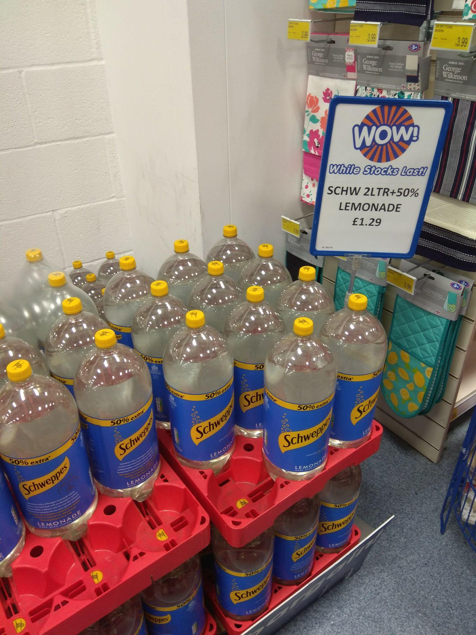 3Ltr Schweppes Lemonade £1.29 instore @ B&M