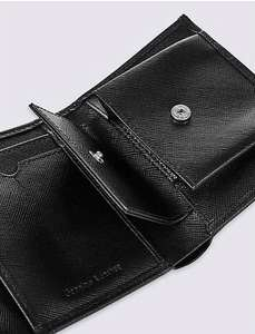 M&S online Tri-fold Leather Wallet reduced from £25 to £8.49