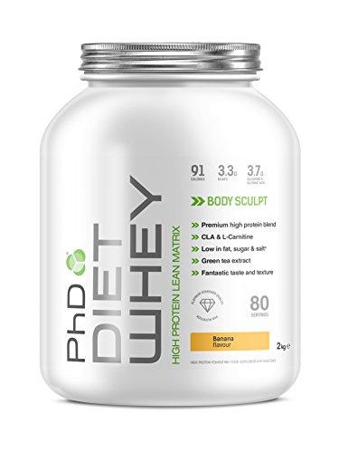 PhD Nutrition Diet Whey Protein Powder - 2 kg - Various Favlours @ Amazon