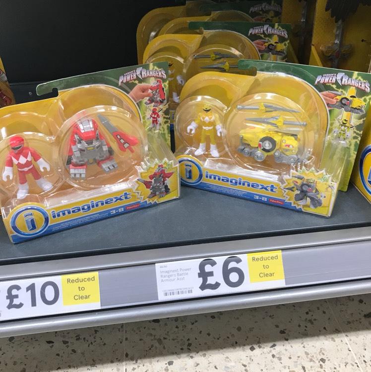 Imaginext Power Rangers Battle Armour assortment £6 INSTORE at Tesco