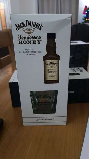Jack Daniels Tennessee Honey 5cl & Tumbler glass set reduced in Sainsbury's £1.50