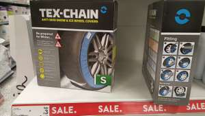 Pair of Tex-Chain Anti-Skid Snow and Ice Wheel Covers - 2 pack, Various sizes- Reduced to £3 ASDA instore