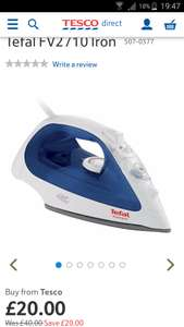 Tefal FV2710 Iron (2400w) HALF PRICE - WAS £40 NOW £20 & Free C+C next day* @ Tesco