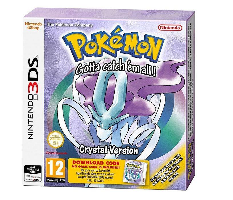 Pokemon crystal 3ds delivered £8.00 at tesco.
