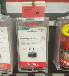 SanDisk 32gb Dual USB 3.0 drive (USB and micro USB for phones) half price £10 in store at Sainsbury's