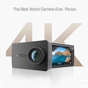YI 4K Sports Action Camera 12MP Ultra HD Camcorder with Wide Angle Lens 2.19 Inch Touch Screen Voice Control (Black) £133 Sold by YI Official Store UK and Fulfilled by Amazon