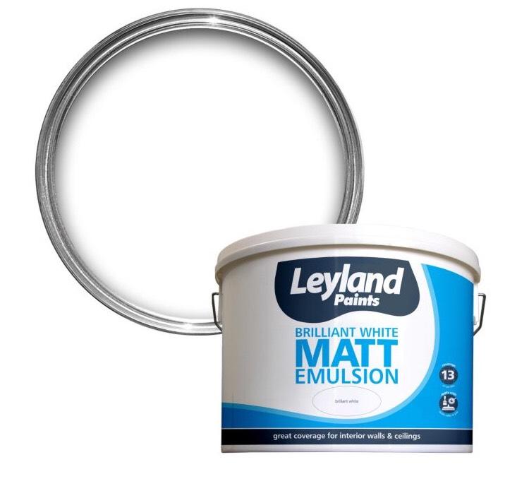 Leyland Brilliant White & Magnolia 10L Emulsion £10 each at B&Q