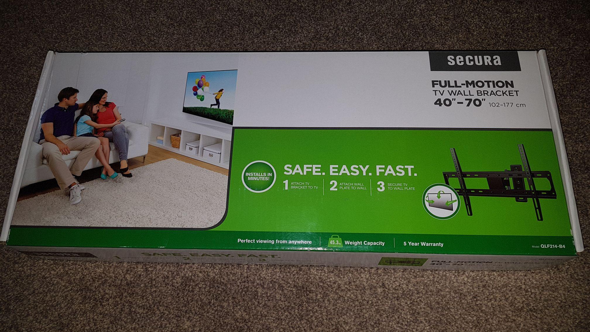"""Secura Full Motion 40-70""""Tv Bracket £10 instore @ Asda (Newcastle Shopping Centre, Byker)"""
