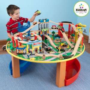 KidKraft Wooden Train Set & Table City Explorer's £75 @ Amazon