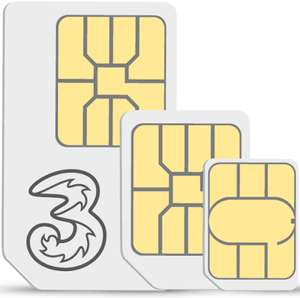 Three SIM Only - 12GB Data, 12 month contract £15pm (£180) @ Three