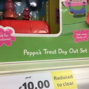 "Peppa pig playset reduced from ""£50"" to £10 instore @ Tesco (Telford)"