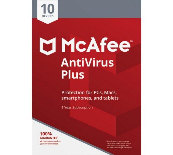 McAfee Antivirus - 10 Device - £6.99 - Argos