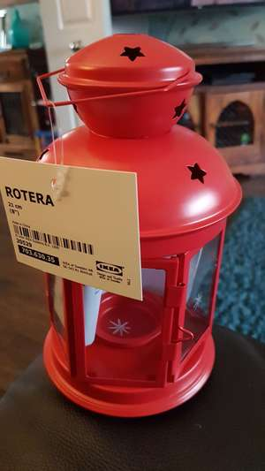 Ikea rotera tea light lantern 75p instore - ashton