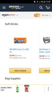 8 pack REAL IRN BRU £2 - Amazon Pantry