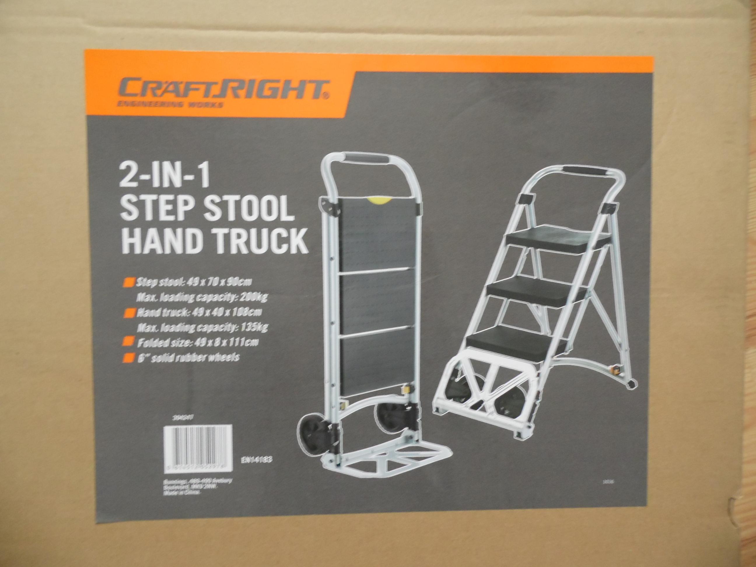 Homebase Hand truck/ step stool combo. £7.