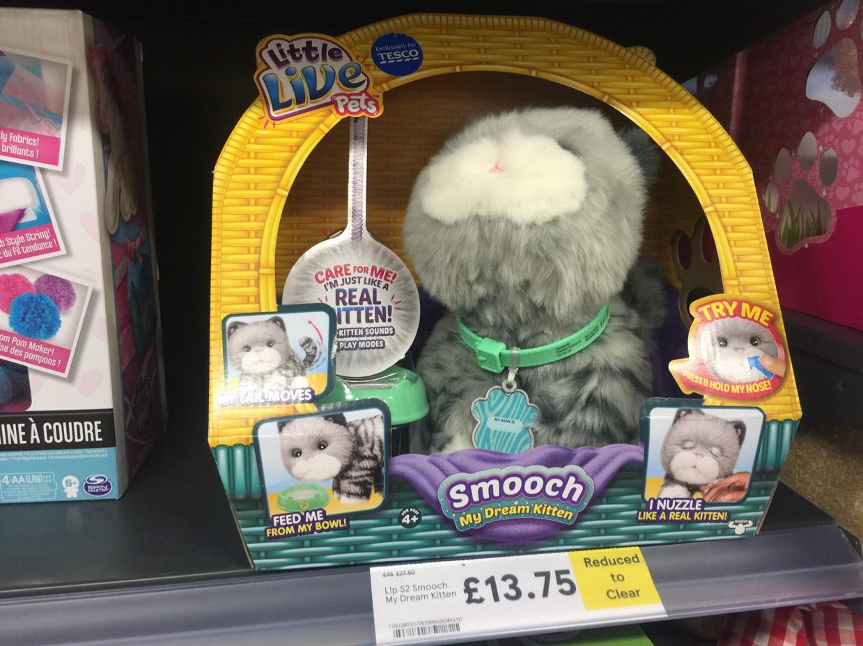 Little live pet smooch dream kitten reduced to clear £13.75 Tesco instore