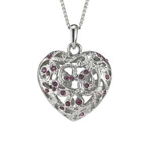 Fiorelli Scrolled Caged Purple Crystal Set Heart Pendant £12 / Fiorelli Scrolled Cage Purple Drop Earrings £9 (Free Collect+) @ Very (see OP for more)