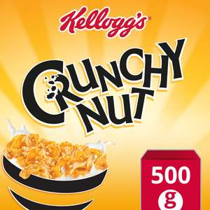 Kellogg's Crunchy Nut Corn Flakes Cereal 500g Now £1.34 @ Iceland