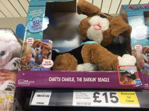Chatty Charlie dog reduced to clear £15 Tesco instore Bidston