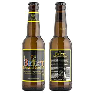 Brexit Premium Export Lager ''Article 50'' 330ml - Most likely a bitter aftertaste £1 @ B&M