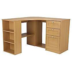 Fraser Oak Effect Corner Desk with Storage £39 (£7.95 del) @ Tesco Direct