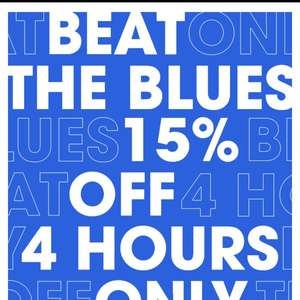 15% off river island  for 4 hours only 6 - 10pm today only