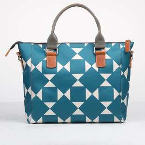Caroline Gardner Elgin Teal Geo Handbag Was £95 Now £28.50 Delivery £4.50 or free over £40