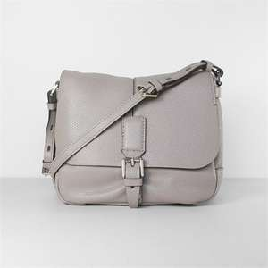 Elephant Grey Leather Crossbody Bag Was £147 Now £44.50 Free Delivery as over £40 @ CarolineGardner