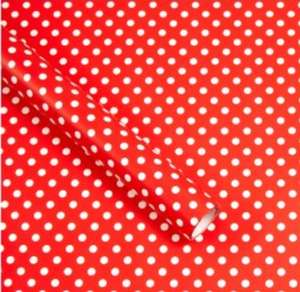 Red Polka Dot 3M Wrapping Paper 25p instore @ Asda Chadderton, Oldham