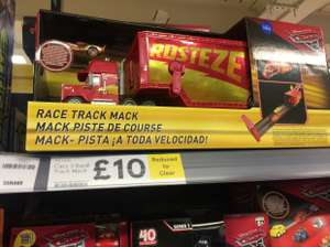Disney cars race track Mack reduced to clear Tesco instore (Bidston) - £10